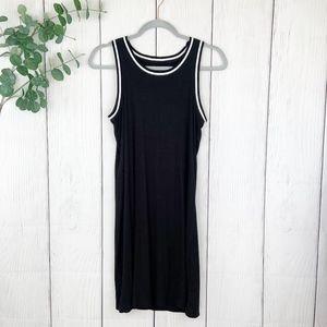Ribbed Open Back Sleeveless Dress